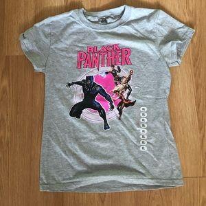 Black Panther kids short sleeve tee shirt